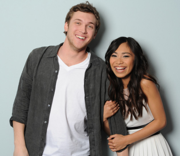 Phillip Phillips and Jessica Sanchez