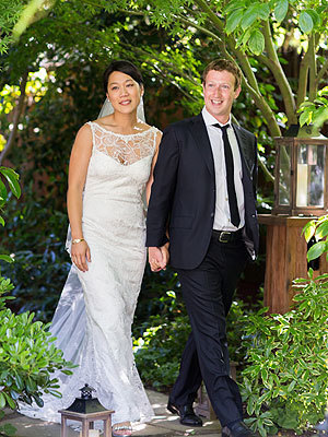 Mark Zuckerberg and Priscilla Chan Wedding Photo