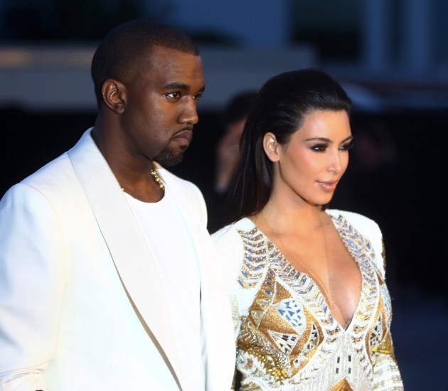 Kanye West and Kim Kardashia in Cannes
