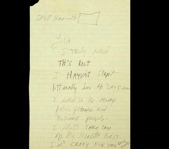 Michael Jackson Letter to Lisa Marie Presley