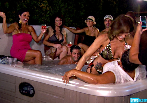 RHONJ Hot Tub Scene