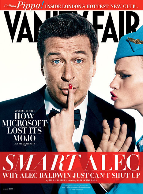 Alec Baldwin in Vanity Fair