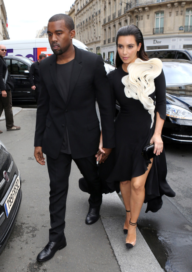 Kim and Kanye in Black
