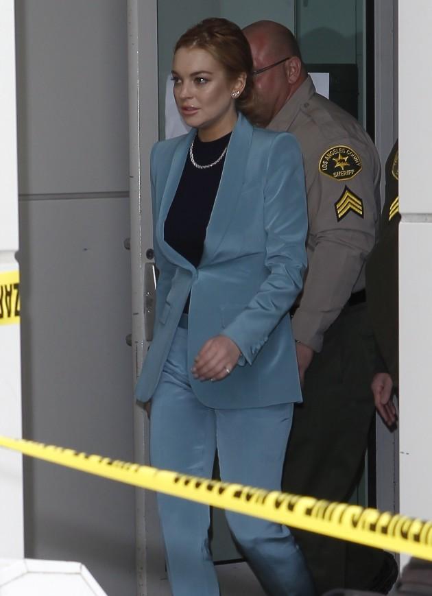 Lindsay Lohan, Police Tape