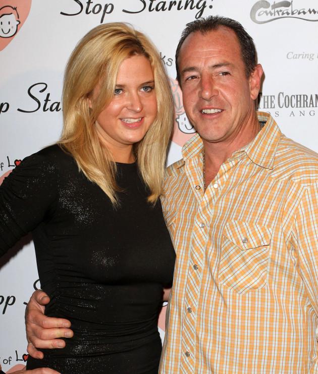 Kate Major with Michael Lohan