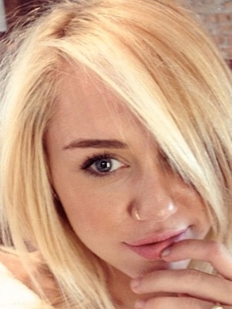 Miley Cyrus as a Blonde