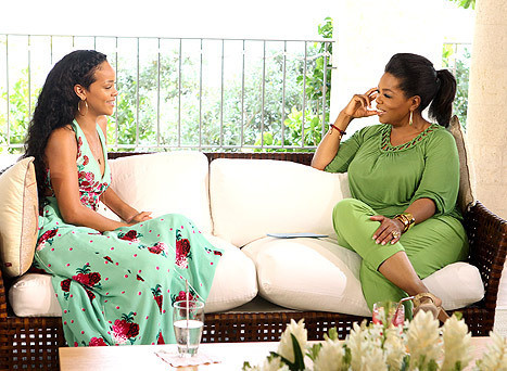 Oprah and Rihanna