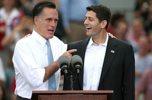 Paul Ryan and Mitt Romney