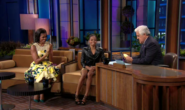 Gabby Douglas, Michelle Obama on the Tonight Show