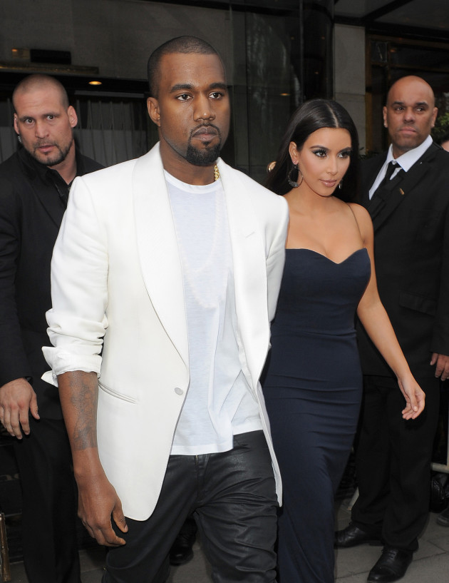Kanye West with Kim Kardashian