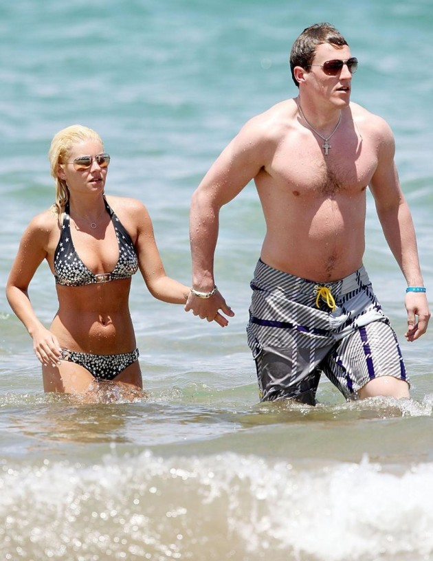 Eisha Cuthbert and Dion Phaneuf