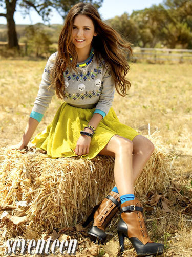 Smiling Nina Dobrev