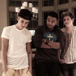 Justin Bieber, Niall Horan and Zayn Malik