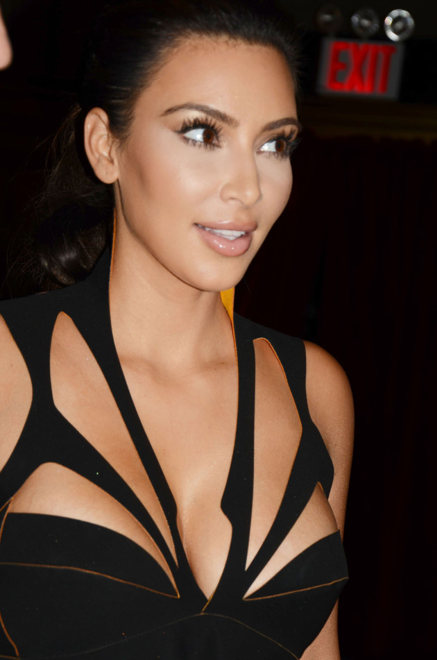 Kim Kardashian Cleavage Dress