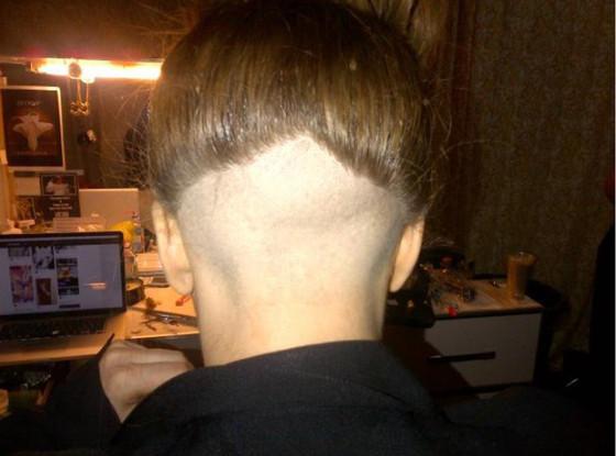 Lady Gaga Shaved Head