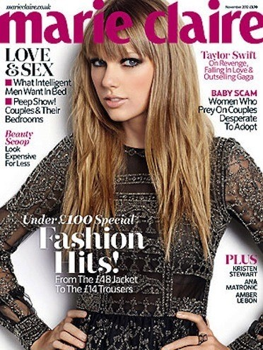 Taylor Swift Marie Claire Cover