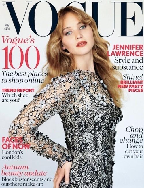 Jennifer Lawrence Vogue UK Cover