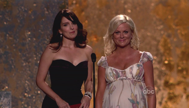 Tina Fey and Amy Poehler at the Emmys