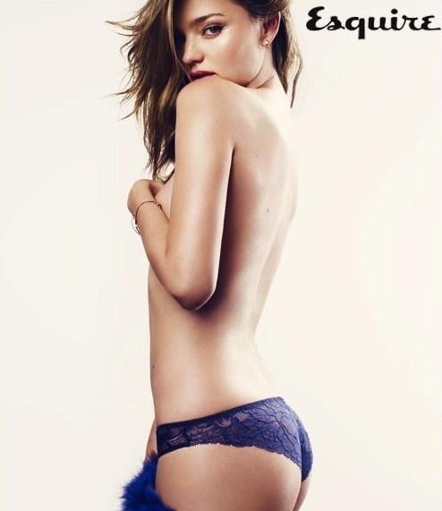 Miranda Kerr Topless in Esquire