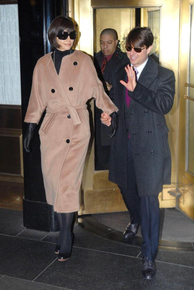 TomKat Leaving Manhattan Hotel