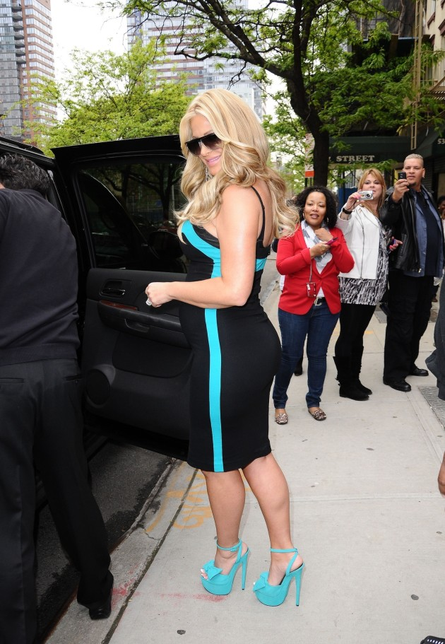 Kim Zolciak on the Street