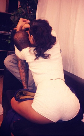 Rihanna Hugs Chris Brown