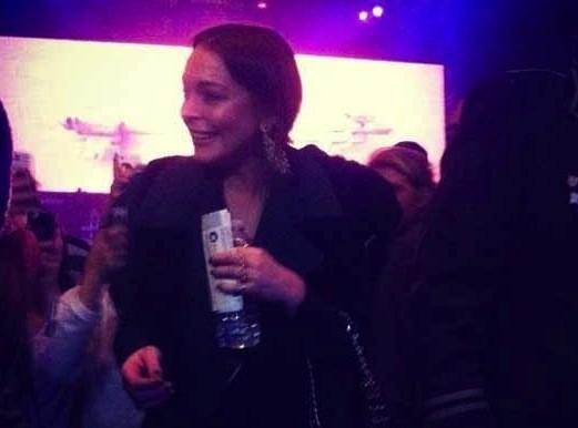 Lindsay Lohan at Bieber Concert