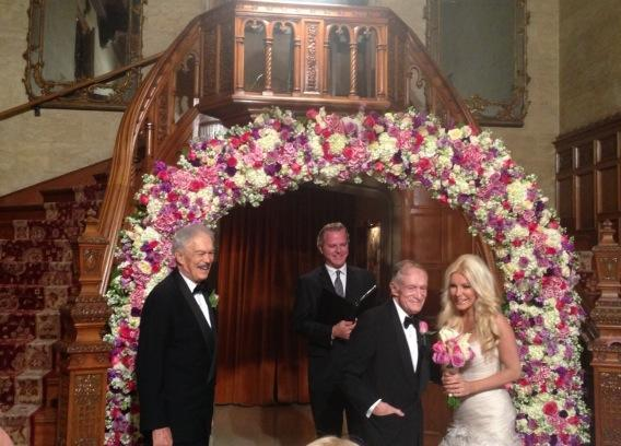 Hugh Hefner Wedding Photo