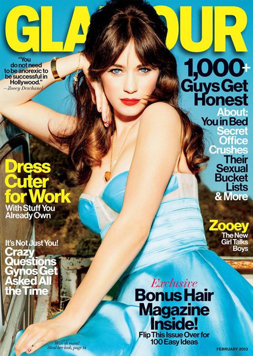 Zooey Deschanel Glamour Cover