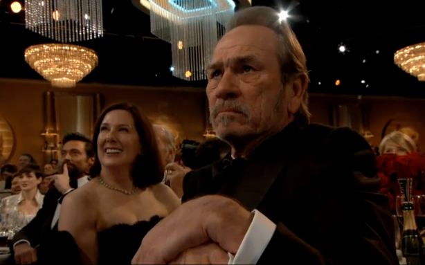 Tommy Lee Jones at the Golden Globes