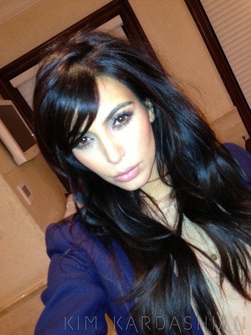 Kim Kardashian Bangs Photo