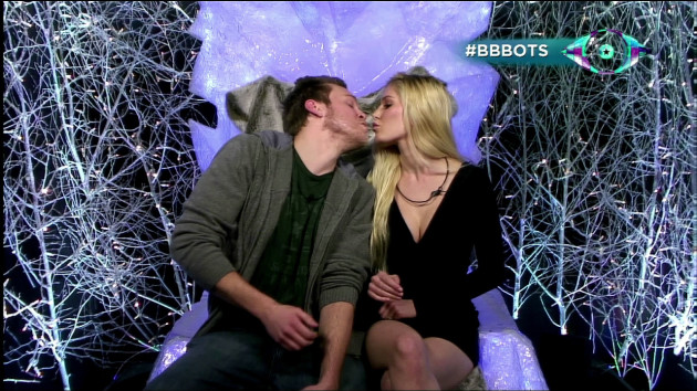 Heidi and Spencer Kiss on Celebrity BB