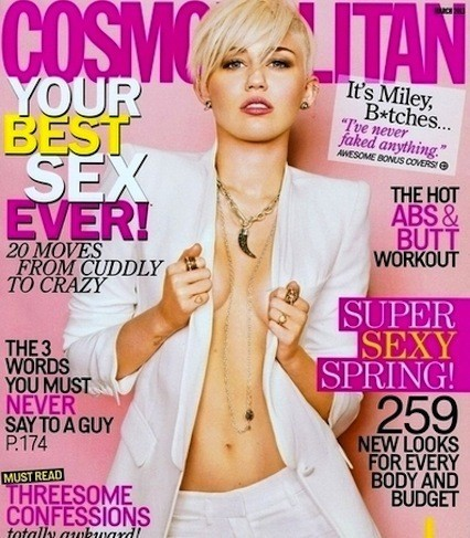 Miley Cyrus Cosmo Cover