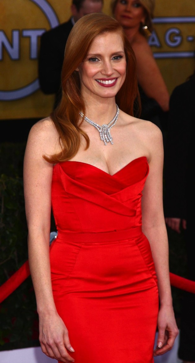 Jessica Chastain in Red