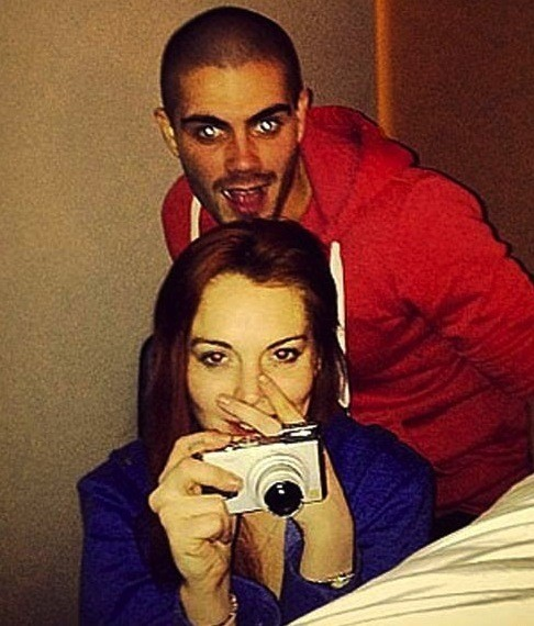 Lindsay Lohan and Max George Photo