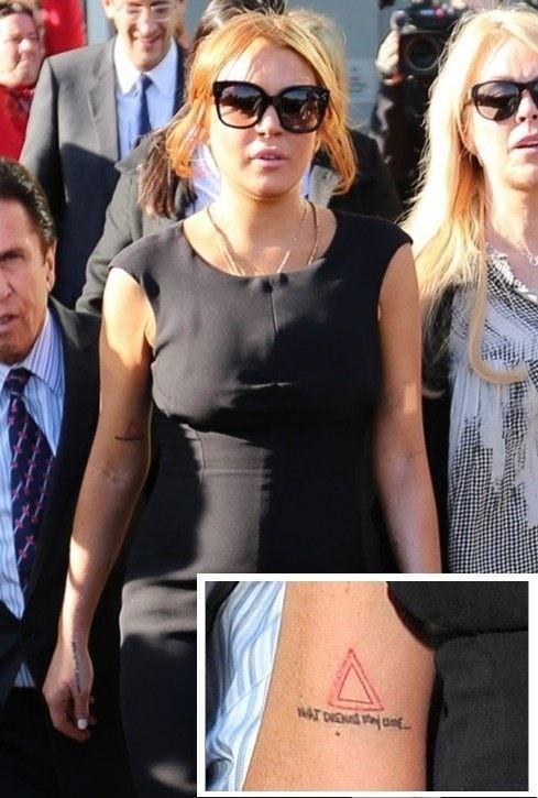 Lindsay Lohan Tattoo