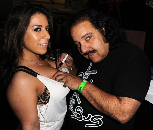 Ron Jeremy Breast Signing