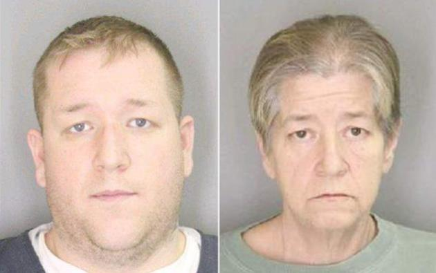 Mother-Son Mug Shots