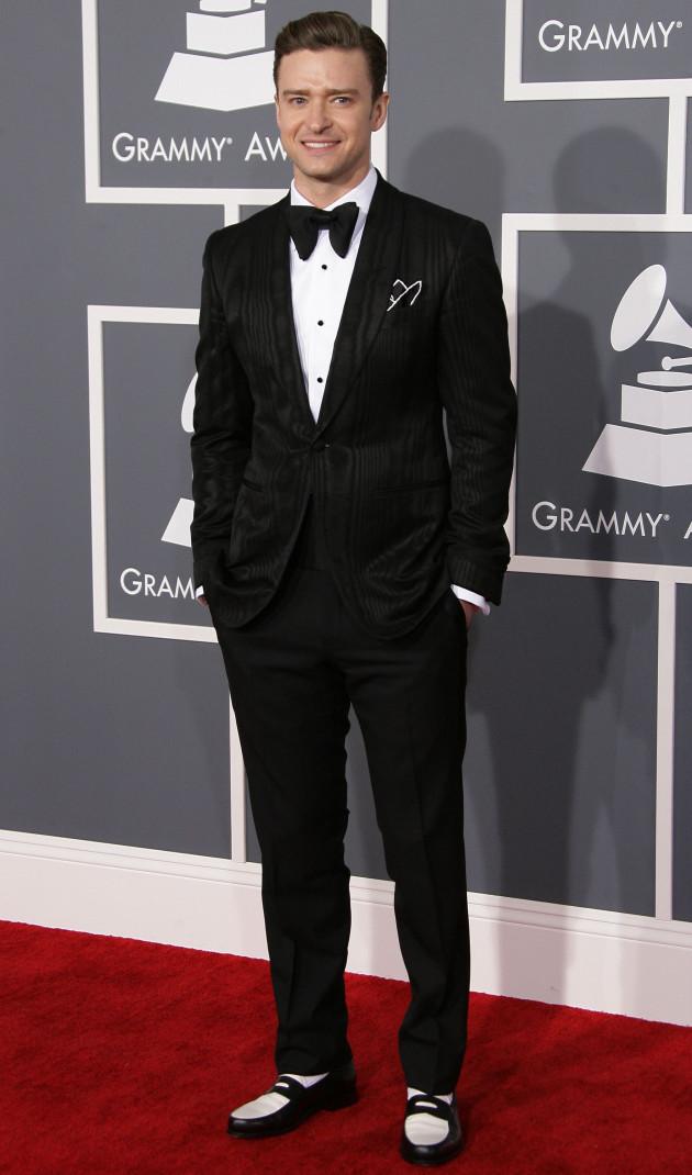 Justin Timberlake at 2013 Grammys