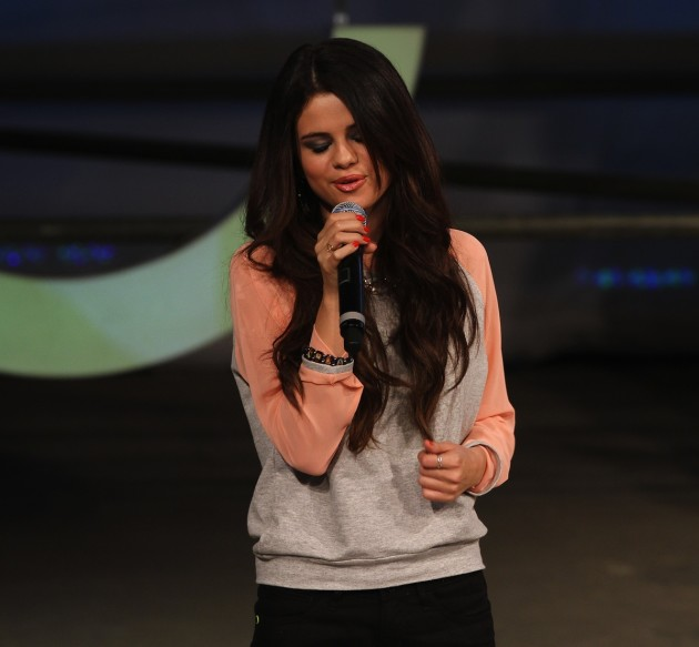Selena Gomez on the Mic