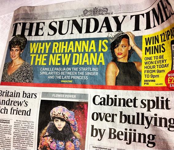 Rihanna, Princess Diana