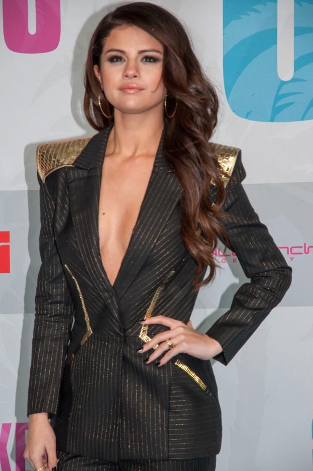 Selena Gomez Cleavage Dress