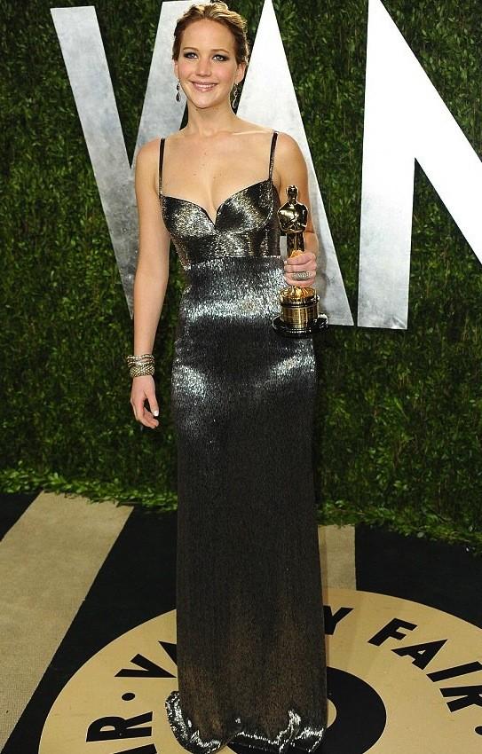 Jennifer Lawrence Oscars Party Dress