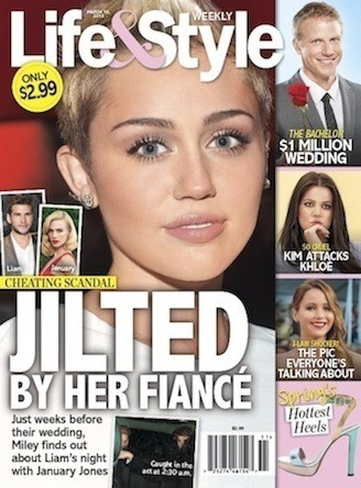 Miley Cyrus Tabloid Cover