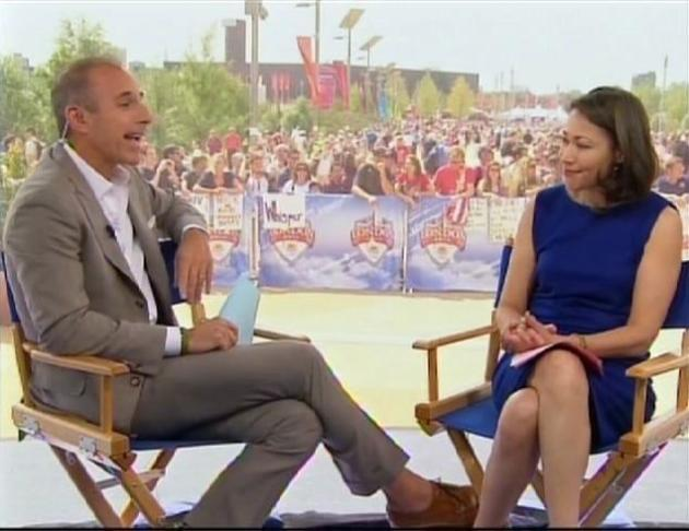 Matt Lauer and Ann Curry on Today