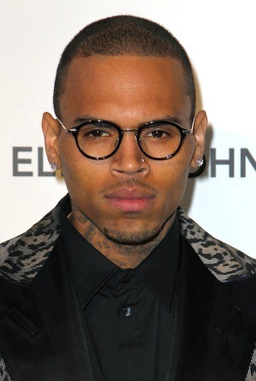 Chris Brown in Glasses