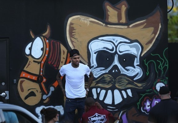 Chris Brown Spray Paint Mural