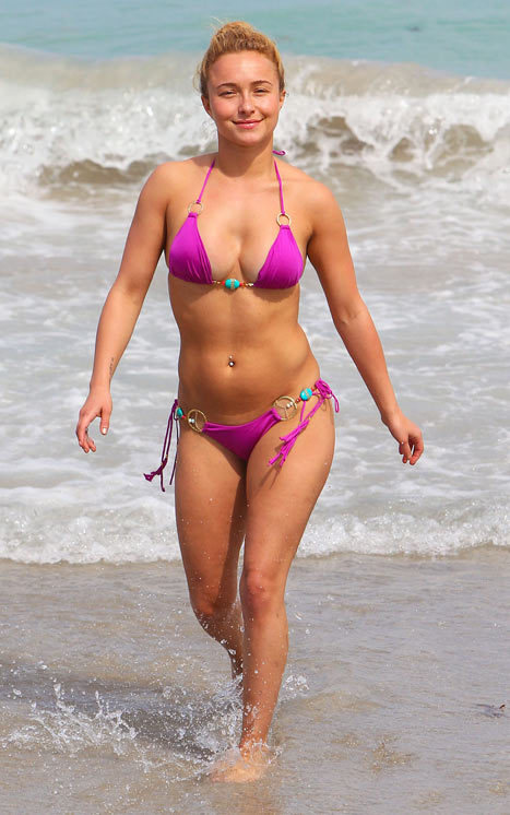 Hayden Panettiere Pink Bikini