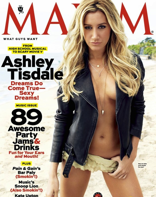 Ashley Tisdale Maxim Cover