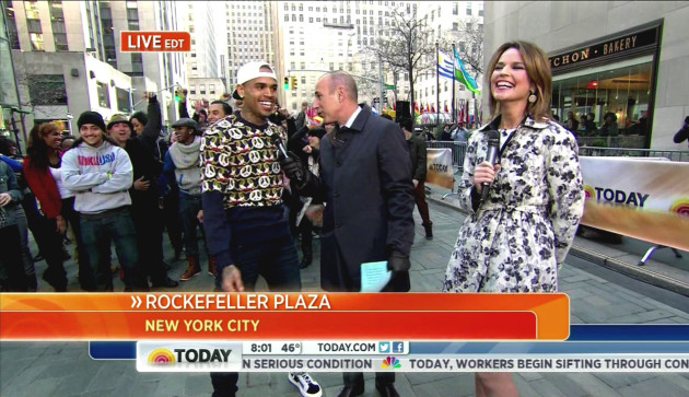 Matt Lauer and Chris Brown